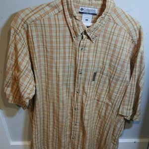 Columbia Button Down Short Sleeved Casual Shirt